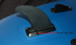 sup fin clip properly inserted